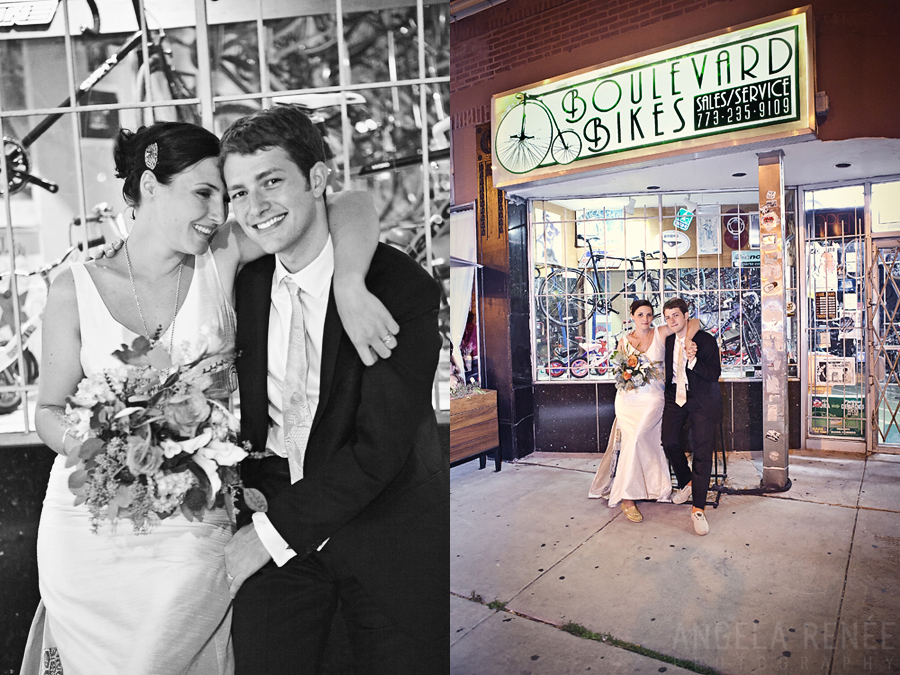 Boulevard Bikes, Logan Square Wedding, Simple Wedding, Angela Renee Photography