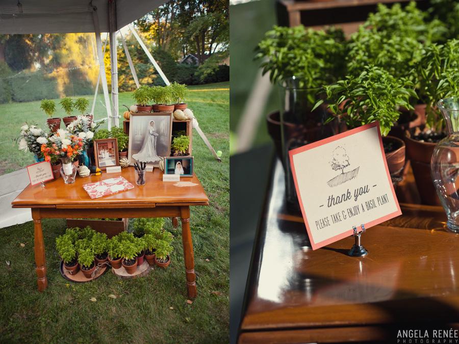 wedding details backyard wedding reception