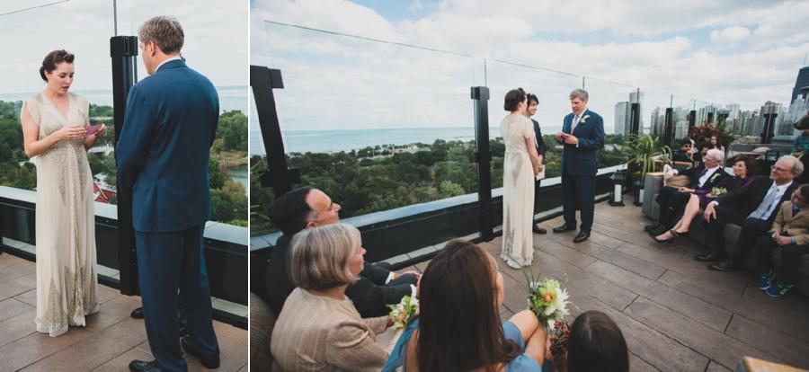J Parker Rooftop wedding ceremony