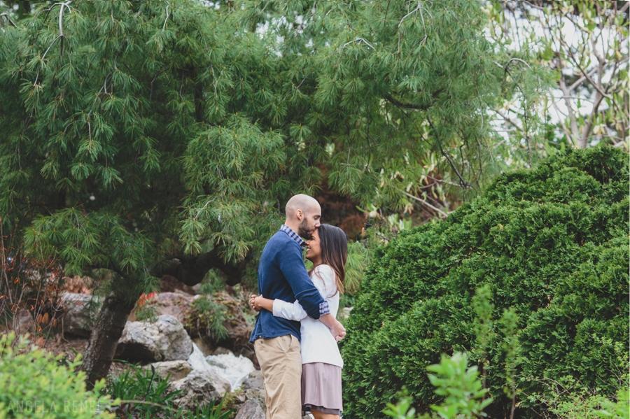Chicago Botanical Gardens Engagement Photos