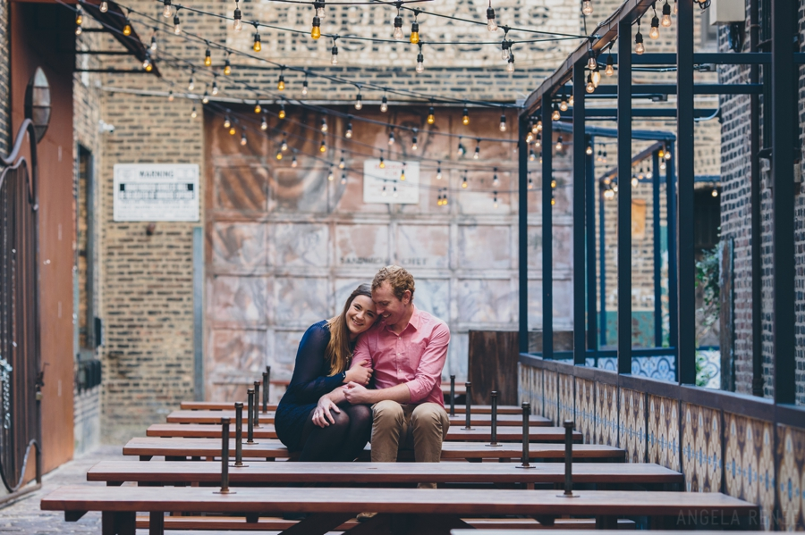 West Loop Chicago Engagement, Colorful, Candid