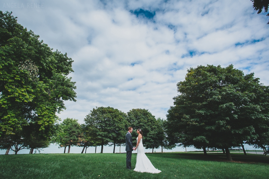 Promontory Point Outdoor Bridal Portraits, Angela Renee Photography