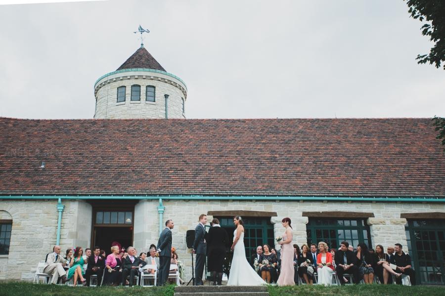Promontory Point Outdoor Summer Wedding