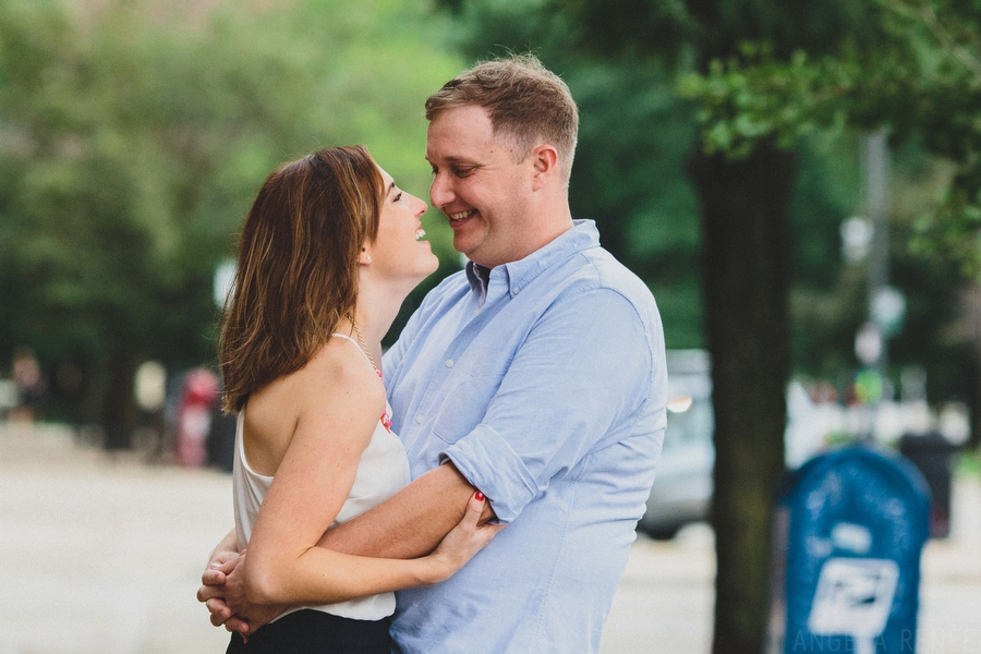 candid engagement session photos