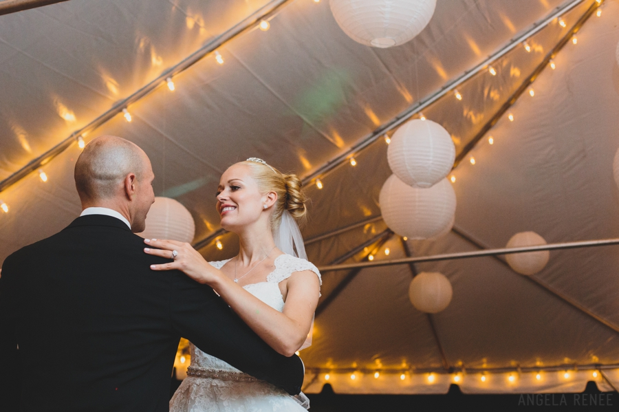 bride and groom first dance glessner