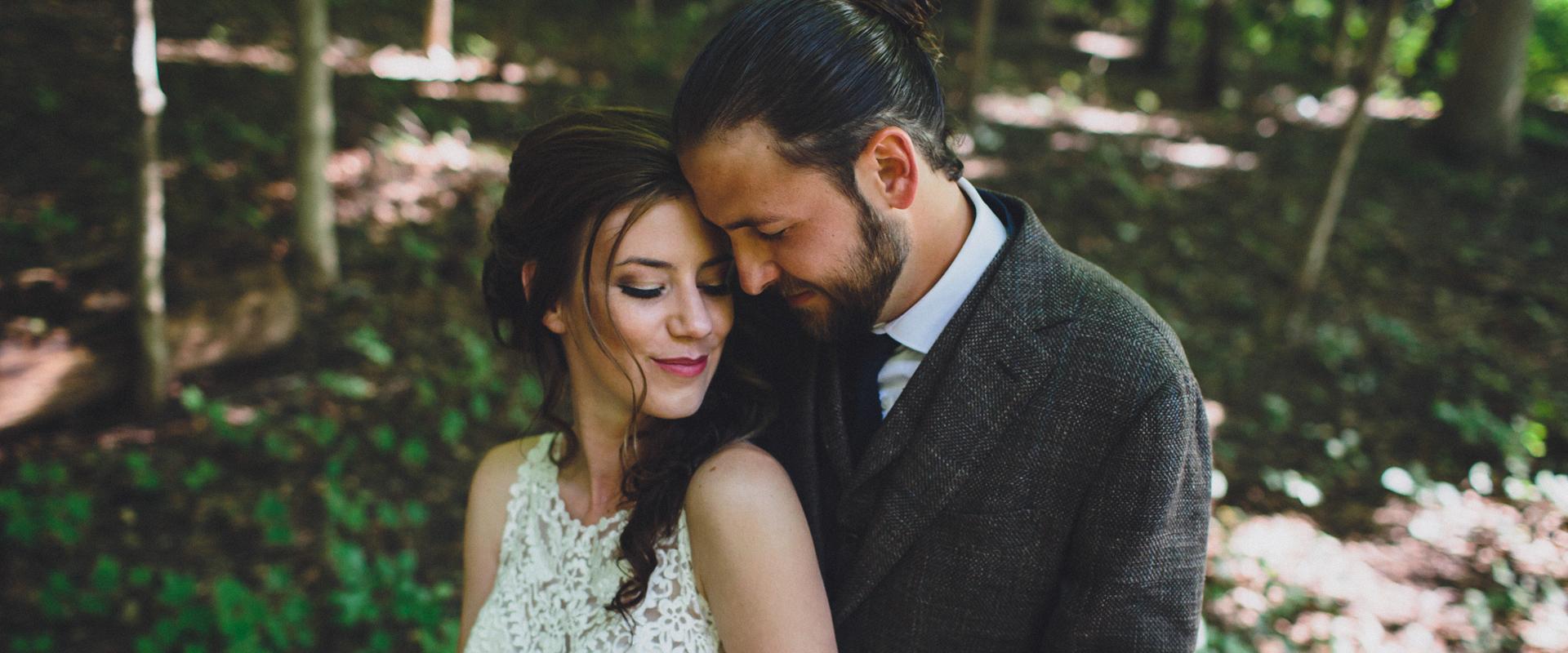 outdoor chicago wedding portrait