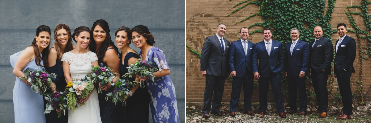urban bridal party photos