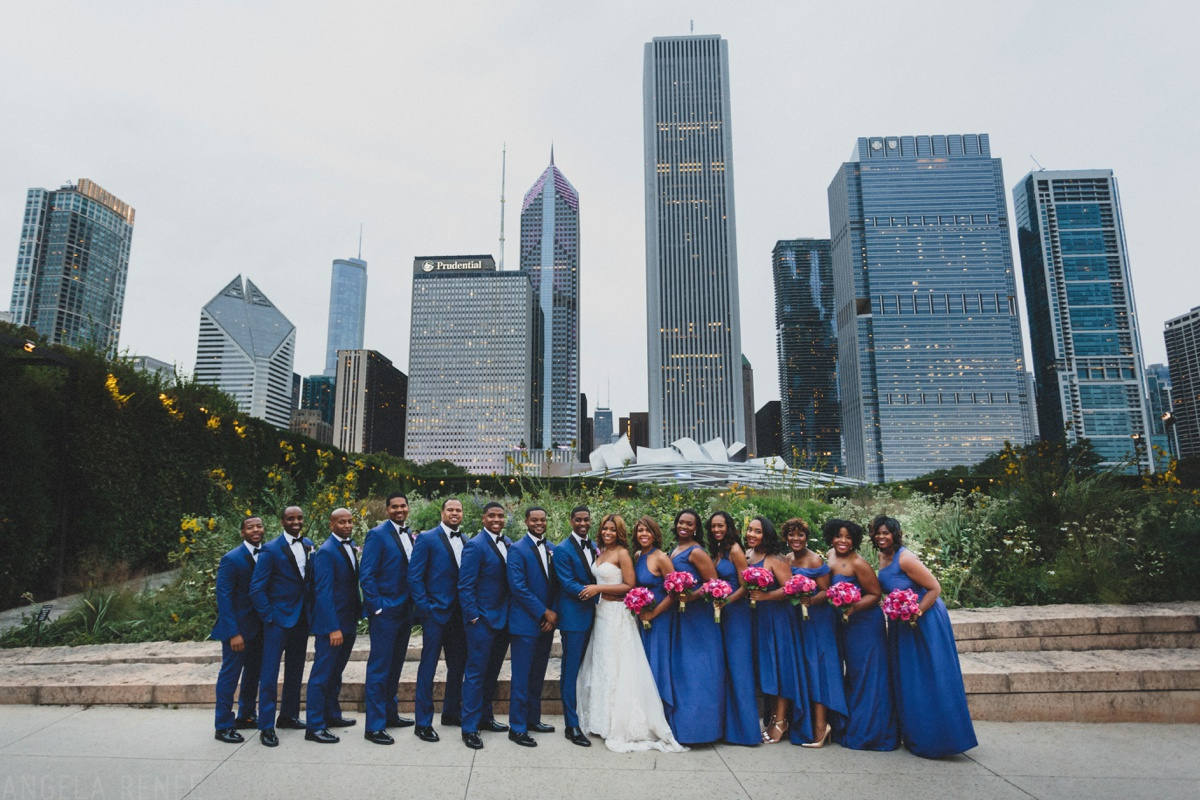 bridal party photos lurie garden