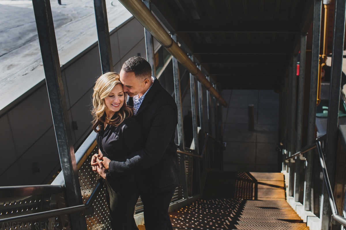 west loop engagement session