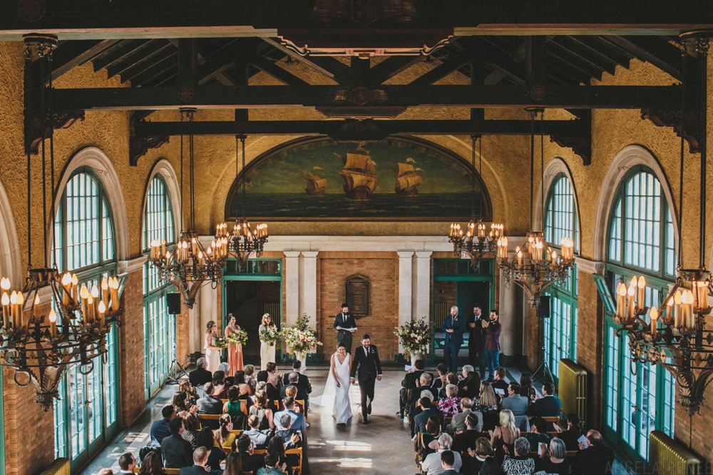 columbus-part-refectory-wedding-exit